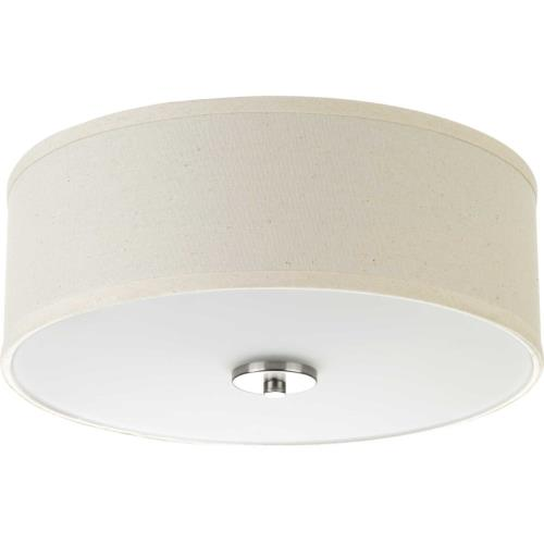 Progress Lighting P3713 Inspire - 5.5 Inch Height - Close-to-Ceiling Light - 2 Light - Line Voltage - Damp Rated
