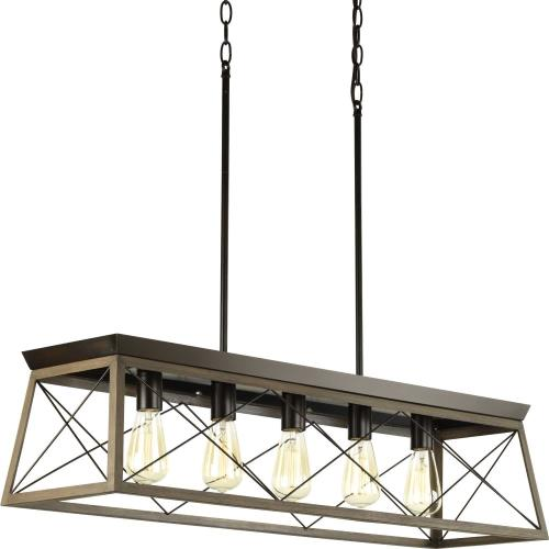 Progress Lighting P400048 Briarwood - 9 Inch Height - Island/Linear Light - 5 Light - Line Voltage