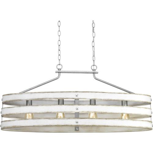 Progress Lighting P400097 Gulliver - Chandeliers Light - 4 Light in Coastal style - 38.5 Inches wide by 17 Inches high