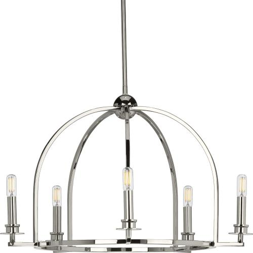 Progress Lighting P400115 Seneca - Chandeliers Light - 5 Light in Farmhouse style - 25.5 Inches wide by 15.88 Inches high