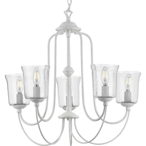 Progress Lighting P400194 Bowman - Chandeliers Light - 5 Light - Bell Shade in Coastal style - 26 Inches wide by 23.25 Inches high