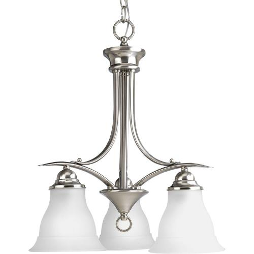 Progress Lighting P4324-09 Trinity - Chandeliers Light - 3 Light in Transitional and Traditional style - 19 Inches wide by 20 Inches high