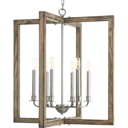 Progress Lighting P4761-141 Turnbury - Chandeliers Light - 6 Light in Coastal style - 26 Inches wide by 28.75 Inches high