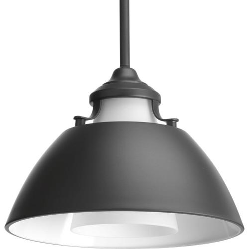 Progress Lighting P500013 Carbon - Pendants Light - 1 Light in Mid-Century Modern style - 11 Inches wide by 8.25 Inches high