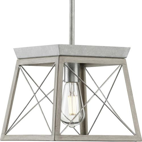 Progress Lighting P500041 Briarwood - 1 Light Mini Pendant in Coastal style - 10 Inches wide by 9 Inches high