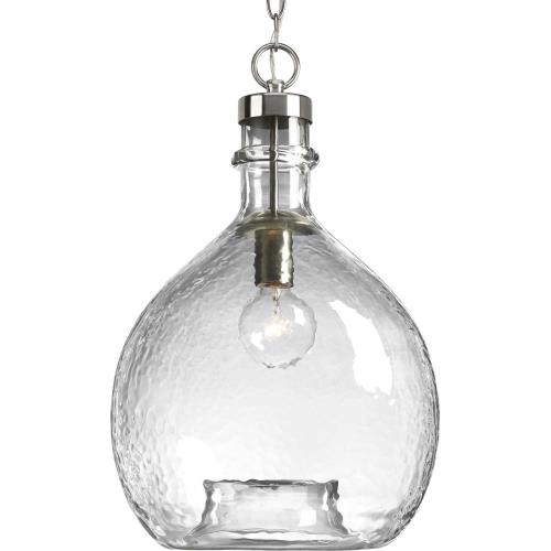 Progress Lighting P500064 Zin - Pendants Light - 1 Light - Globe Shade in Bohemian and Coastal style - 13 Inches wide by 20.38 Inches high