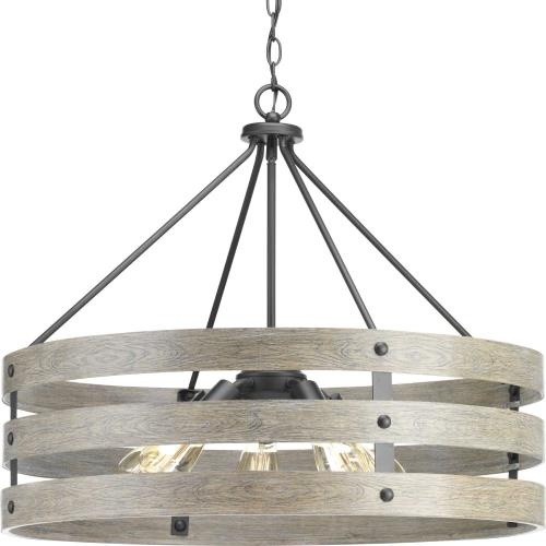 Progress Lighting P500090 Gulliver - Pendants Light - 5 Light in Coastal style - 27.75 Inches wide by 22.75 Inches high