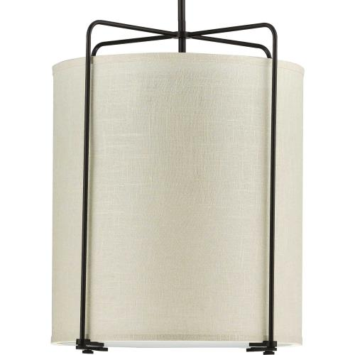 Progress Lighting P500139-0 Kempsey - Pendants Light - 3 Light - Flat Round Shade in Farmhouse style - 17.75 Inches wide by 21.38 Inches high