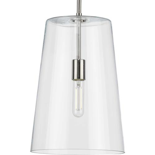 Progress Lighting P500242 Clarion - Pendants Light - 1 Light - Cone Shade in Coastal style - 10.5 Inches wide by 15.88 Inches high