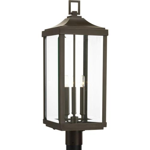 Progress Lighting P540004-020 Gibbes Street - Outdoor Light - 3 Light in New Traditional and Transitional style - 9.5 Inches wide by 26.88 Inches high