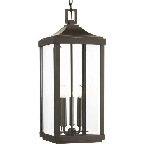 Progress Lighting P550004-020 Gibbes Street - Outdoor Light - 3 Light in New Traditional and Transitional style - 9.5 Inches wide by 23.75 Inches high