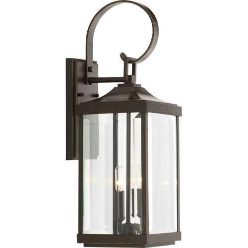 Progress Lighting P560022-020 Gibbes Street - Outdoor Light - 2 Light in New Traditional and Transitional style - 7 Inches wide by 21.75 Inches high