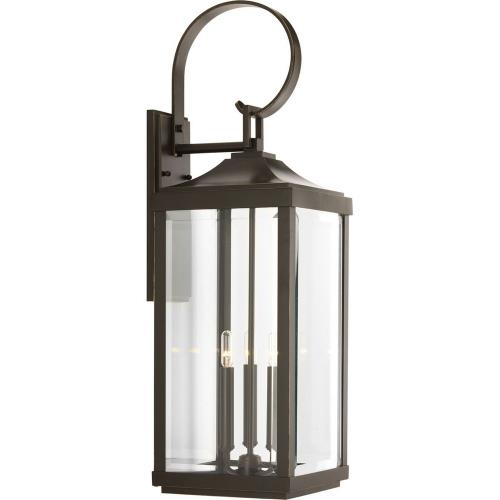 Progress Lighting P560023-020 Gibbes Street - Outdoor Light - 3 Light in New Traditional and Transitional style - 9.5 Inches wide by 30.63 Inches high