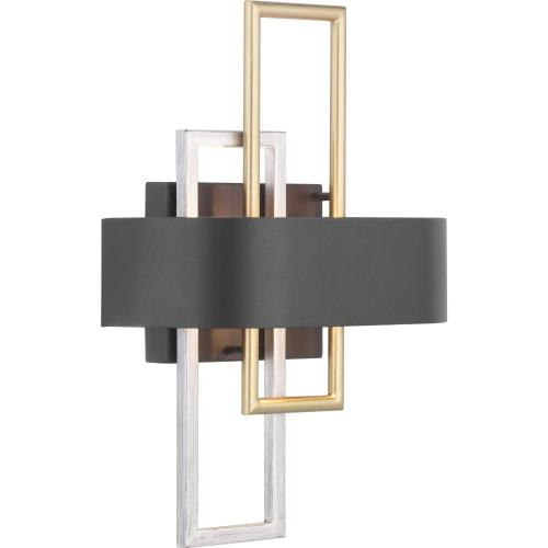 Progress Lighting P710057-031 Adagio - Wall Sconces Light - 2 Light in Luxe and Modern style - 11 Inches wide by 15.5 Inches high