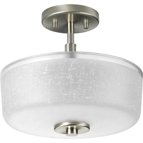 Progress Lighting P2851-09 Alexa - Two Light Semi-Flush Mount