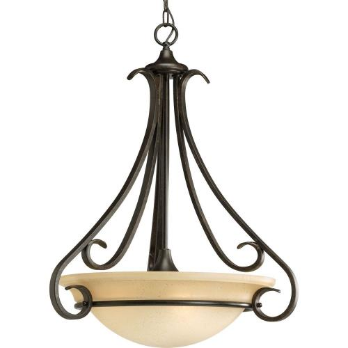 Progress Lighting P3847-77 Torino - 3 Light - Bowl Shade in Transitional style - 22 Inches wide by 27 Inches high