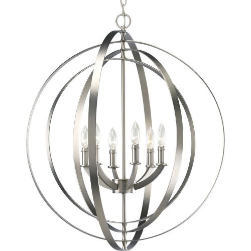 Progress Lighting P3889-126 Equinox - 6 Light in Luxe and New Traditional and Transitional style - 27.75 Inches wide by 30 Inches high