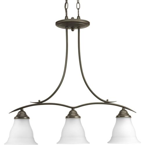 Progress Lighting P4325-20 Trinity - Chandeliers Light - 3 Light in Transitional and Traditional style - 6.5 Inches wide by 28.25 Inches high