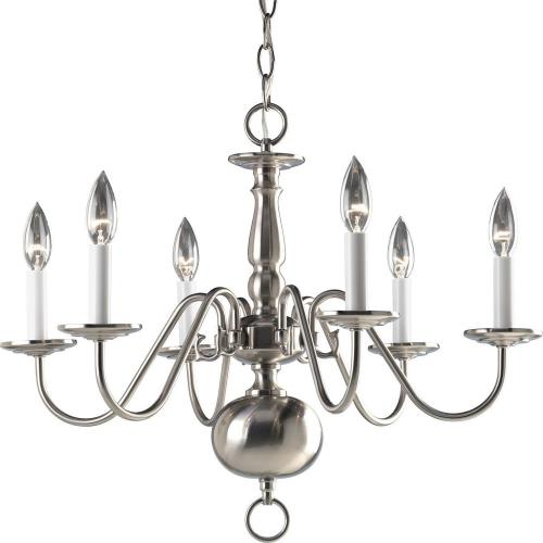 Progress Lighting P4356-09 Americana - Chandeliers Light - 6 Light in Traditional style - 25 Inches wide by 18 Inches high