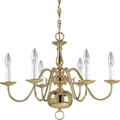 Progress Lighting P4356-10 Americana - Chandeliers Light - 6 Light in Traditional style - 25 Inches wide by 18 Inches high