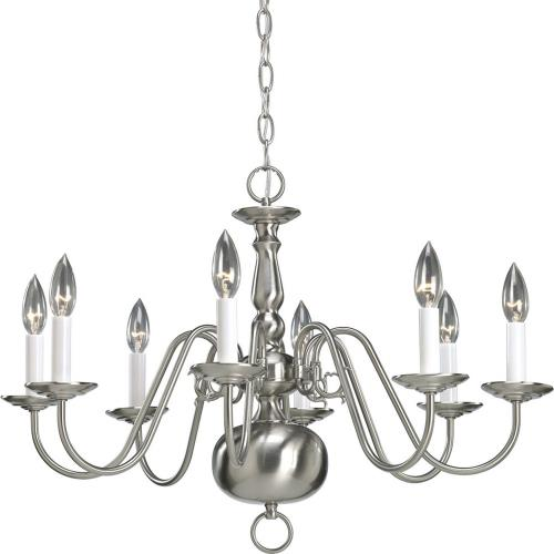 Progress Lighting P4357-09 Americana - Chandeliers Light - 8 Light in Traditional style - 26 Inches wide by 18.88 Inches high