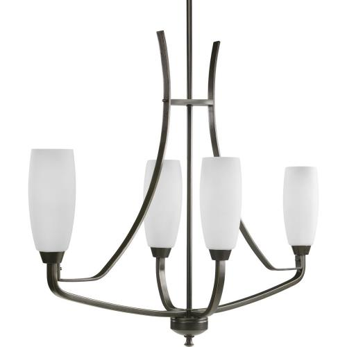 Progress Lighting P4435-20 Wisten - Chandeliers Light - 4 Light - Tulip Shade in Modern style - 12.5 Inches wide by 29 Inches high