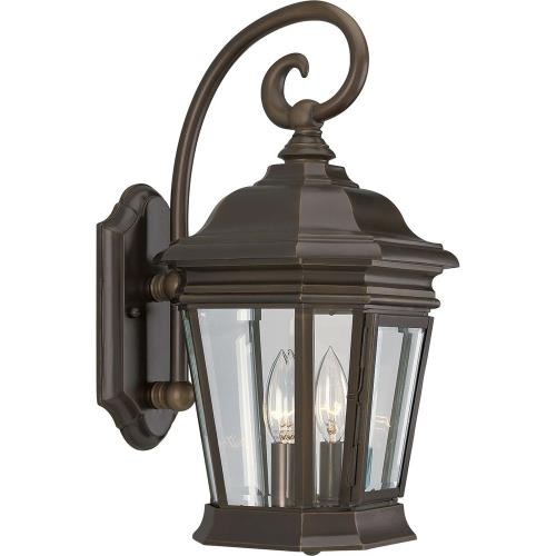 Progress Lighting P5671-108 Crawford - Outdoor Light - 2 Light in New Traditional and Transitional style - 8.5 Inches wide by 16.75 Inches high