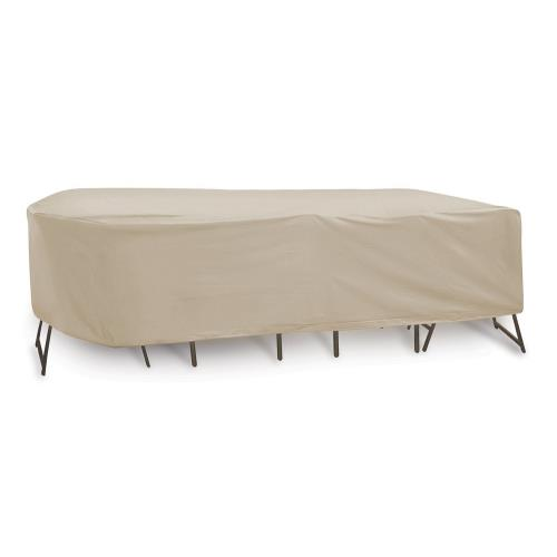 Protective Covers 134R 108x60x40 Inch Oval/Rectangular Table and Chair Cover without Umbrella Hole