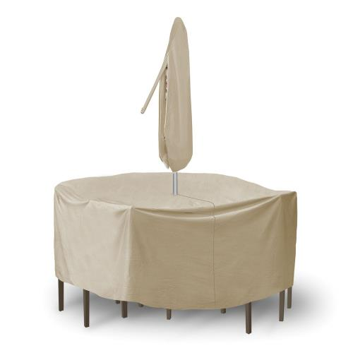 Protective Covers 1342B 92 Inch Round Bar Table and Chair Cover without Umbrella Hole