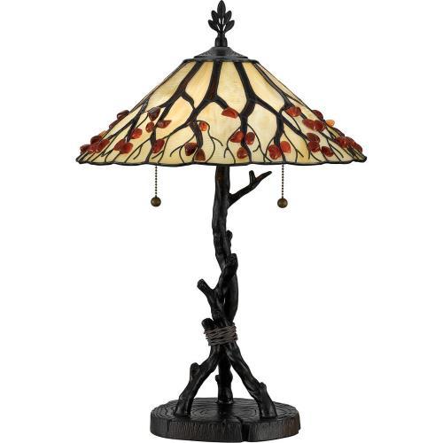Quoizel Lighting AG711TVA Agate Portable - 2 Light Table Lamp
