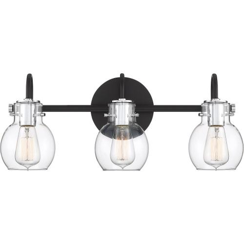 Quoizel Lighting ANW8603EK Andrews 3 Light Transitional Bath Vanity Approved for Damp Locations - 9 Inches high