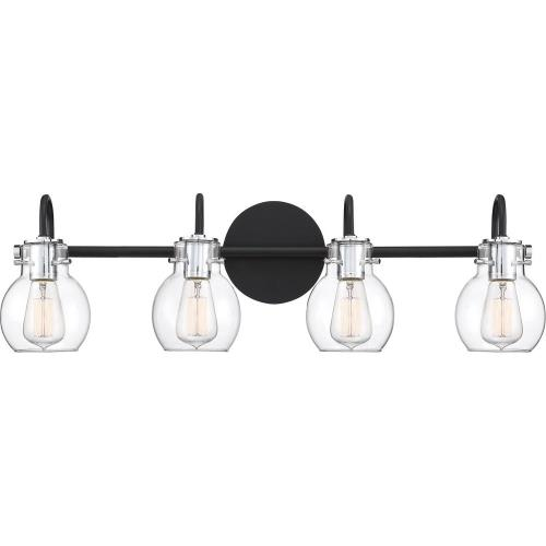 Quoizel Lighting ANW8604EK Andrews 4 Light Transitional Bath Vanity Approved for Damp Locations - 9 Inches high