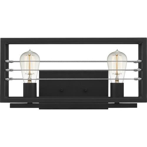 Quoizel Lighting AWD8616MBK Awendaw - 2 Light Bath Vanity - 8 Inches high