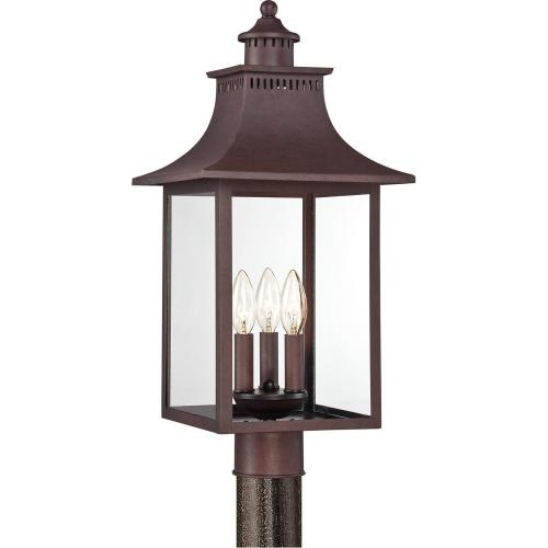 Quoizel Lighting CCR9010CU Chancellor - 3 Light Post