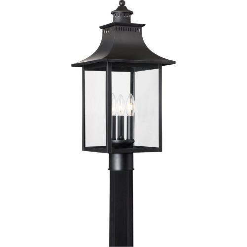 Quoizel Lighting CCR9010K Chancellor - 3 Light Outdoor Post Lantern - 22 Inches high