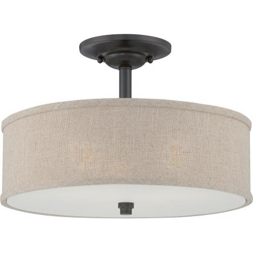 Quoizel Lighting CRA1717MC Cloverdale - 3 Light Semi-Flush Mount - 12 Inches high