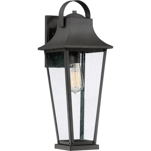 Quoizel Lighting GLV8407MB Galveston 19.25 Inch Outdoor Wall Lantern Transitional Aluminum Approved for Wet Locations