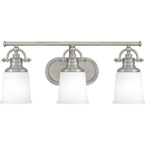 Quoizel Lighting GRT8603AN Grant 3 Light Transitional Bath Vanity - 9.5 Inches high