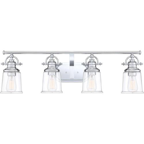 Quoizel Lighting GRT8604C Grant 4 Light Transitional Bath Vanity Approved for Damp Locations - 9.5 Inches high