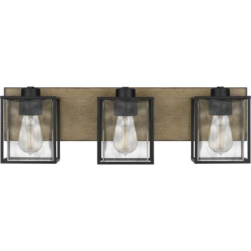 Quoizel Lighting HTN8623MBK Holsten - 3 Light Bath Vanity - 7 Inches high