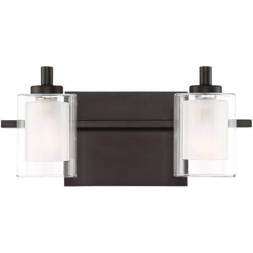 Quoizel Lighting KLT8602WTLED Kolt 2 Light Transitional Bath Vanity - 6 Inches high
