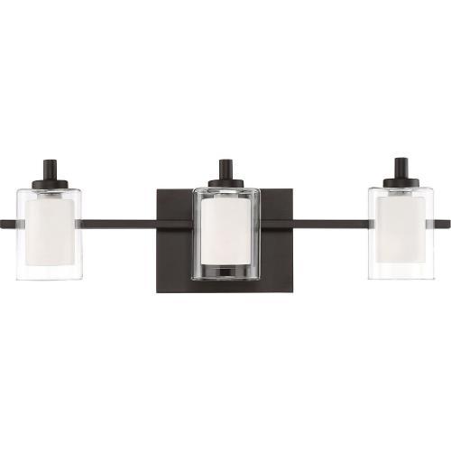 Quoizel Lighting KLT8603WTLED Kolt 3 Light Transitional Bath Vanity - 6 Inches high
