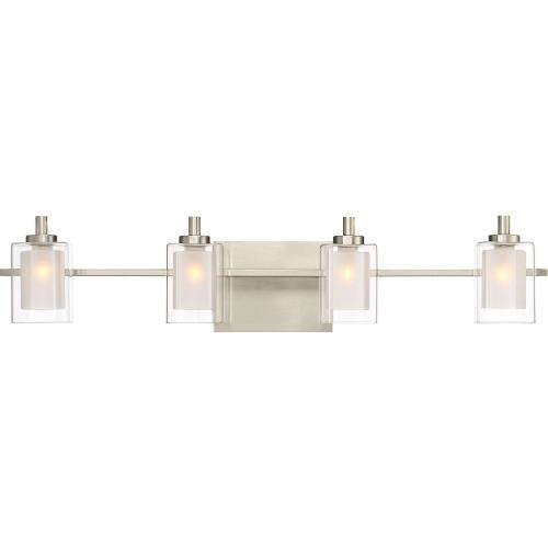 Quoizel Lighting KLT8604BNLED Kolt 4 Light Transitional Extra Large Bath Vanity Approved for Damp Locations - 6 Inches high