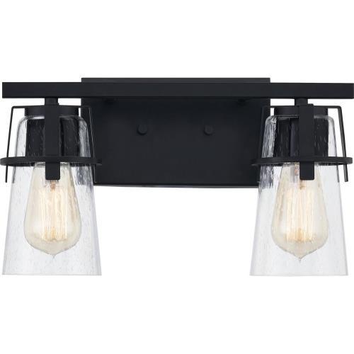 Quoizel Lighting KNX8614MBK Knox - 2 Light Bath Vanity - 8 Inches high