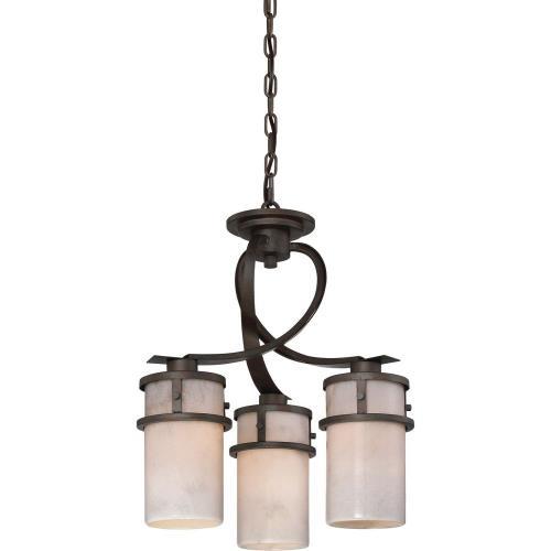 Quoizel Lighting KY5503IN Kyle Dinette Chandelier 3 Light Steel - 19.5 Inches high