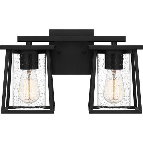 Quoizel Lighting LDG8615MBK Lodge - 2 Light Bath Vanity - 9 Inches high