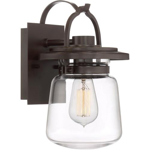 Quoizel Lighting LLE8407WT LaSalle 11.75 Inch Outdoor Wall Lantern Transitional Aluminum Approved for Wet Locations