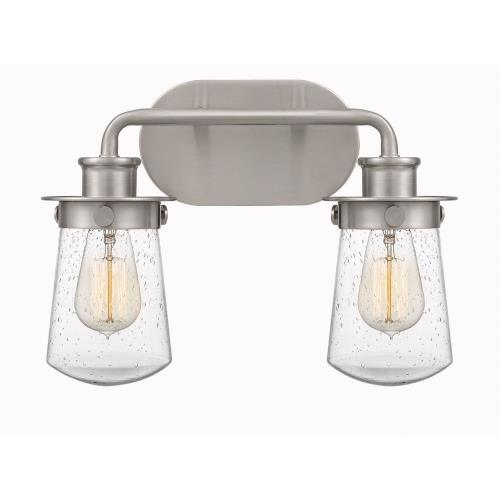 Quoizel Lighting LWN8602 Lewiston 2 Light Transitional Bath Vanity Approved for Damp Locations - 10.5 Inches high