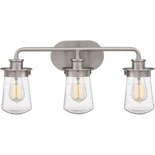 Quoizel Lighting LWN8603 Lewiston 3 Light Transitional Bath Vanity Approved for Damp Locations - 10.5 Inches high