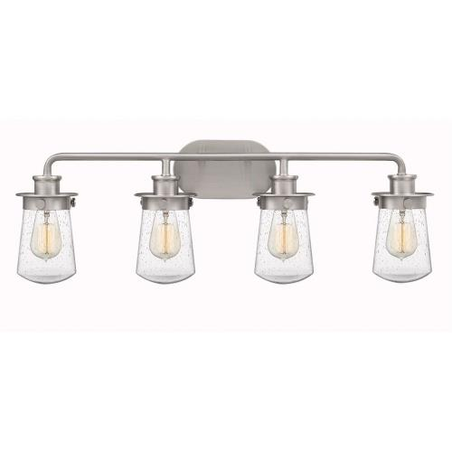 Quoizel Lighting LWN8604 Lewiston 4 Light Transitional Bath Vanity Approved for Damp Locations - 10.5 Inches high
